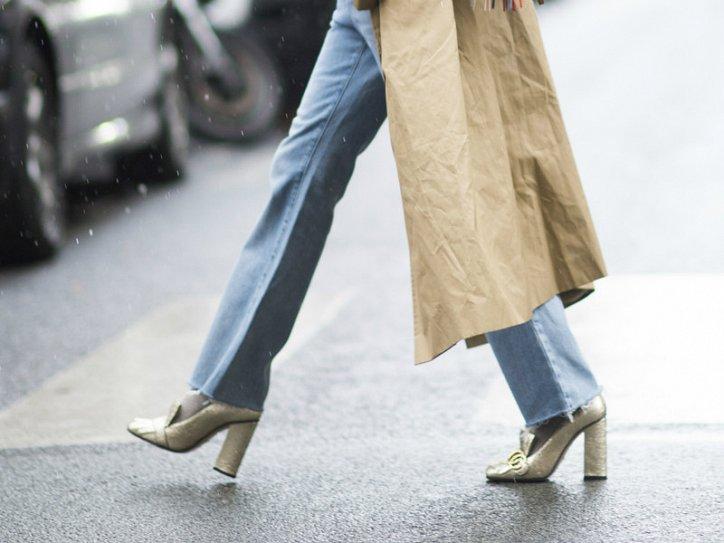 Модная обувь осени: лоферы на толстом каблуке фото №6