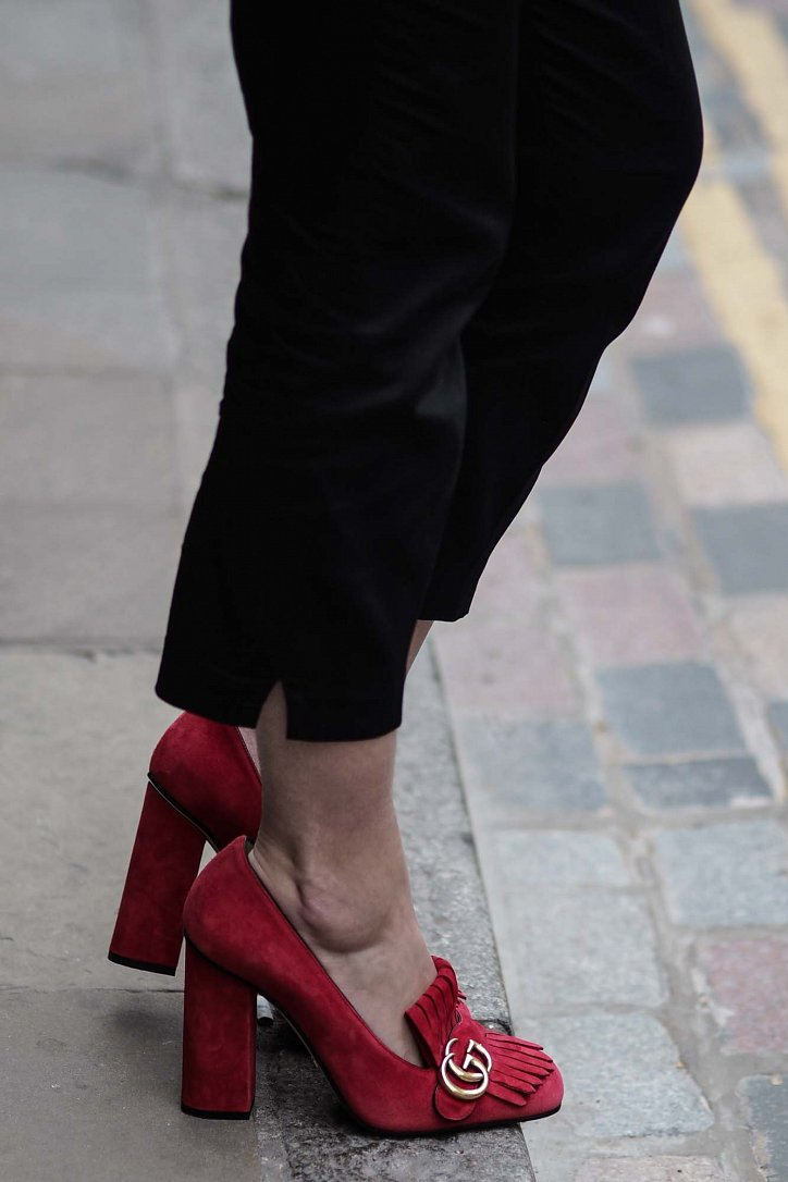 Модная обувь осени: лоферы на толстом каблуке фото №1
