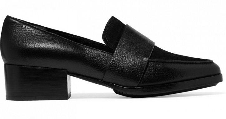 Модная обувь осени: лоферы на толстом каблуке фото №19