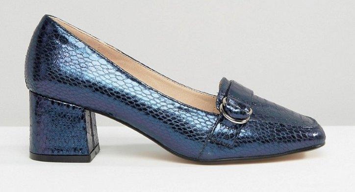Модная обувь осени: лоферы на толстом каблуке фото №24