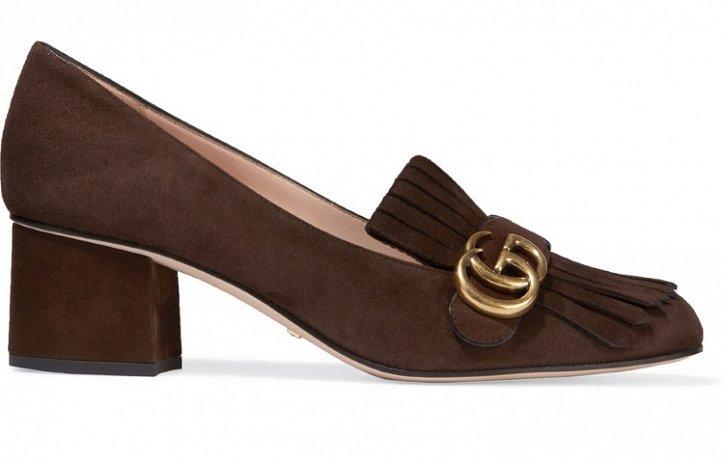 Модная обувь осени: лоферы на толстом каблуке фото №15