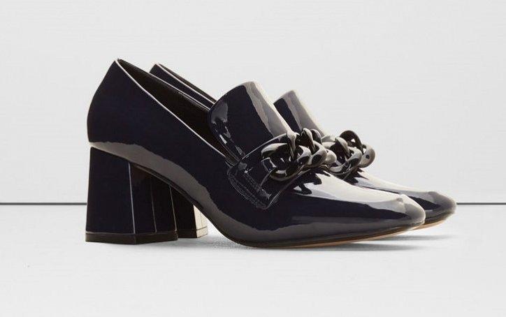 Модная обувь осени: лоферы на толстом каблуке фото №13