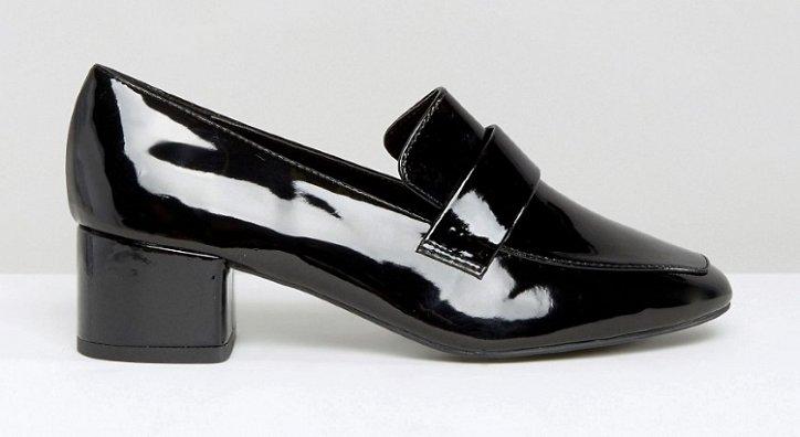 Модная обувь осени: лоферы на толстом каблуке фото №25