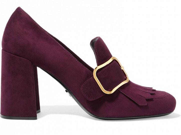 Модная обувь осени: лоферы на толстом каблуке фото №17