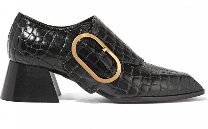 Модная обувь осени: лоферы на толстом каблуке фото №23