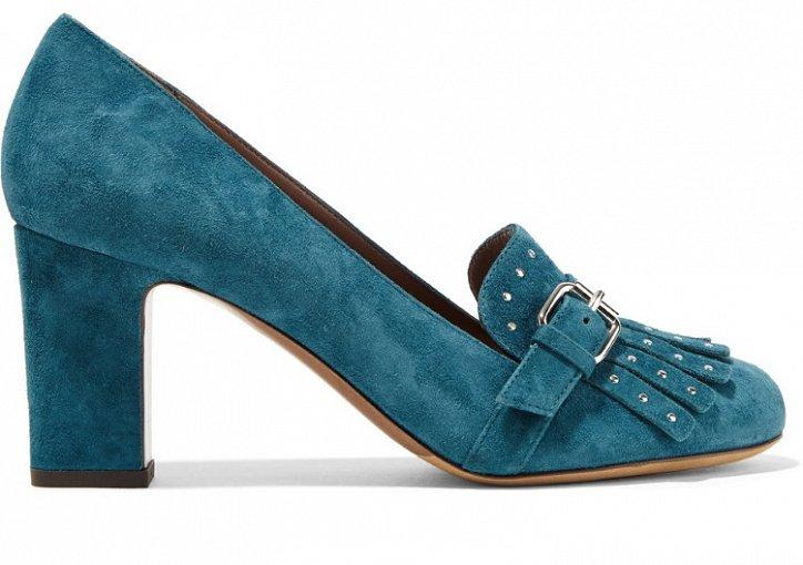 Модная обувь осени: лоферы на толстом каблуке фото №14