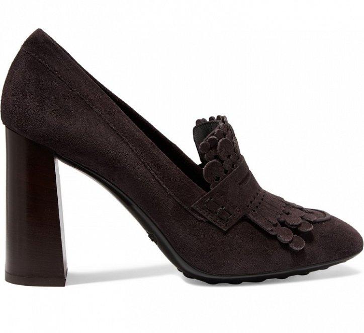 Модная обувь осени: лоферы на толстом каблуке фото №16