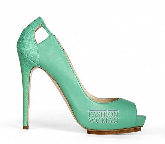 бирюзовые туфли на каблуке