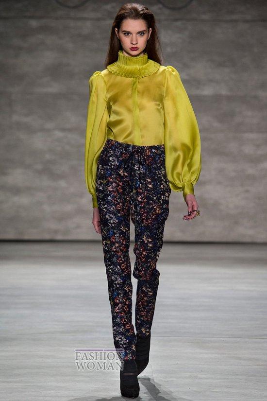 Модные блузки осень-зима 2014-2015 фото №40