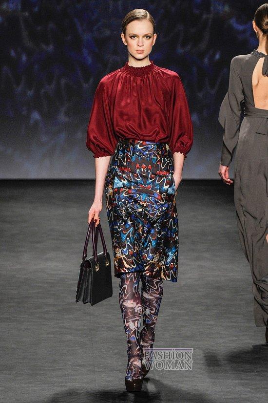 Модные блузки осень-зима 2014-2015 фото №41