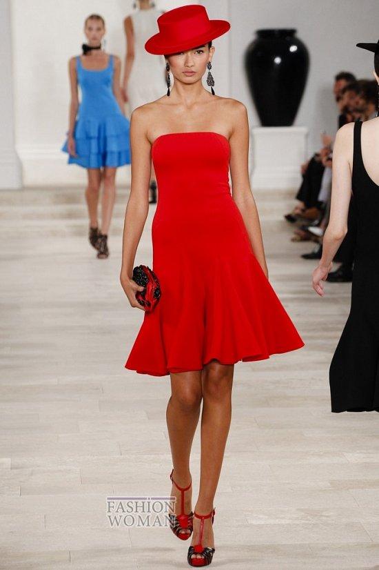 красное платье от Ralph Lauren