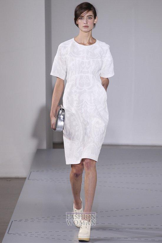белое офисное платье