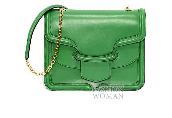 зеленая сумка