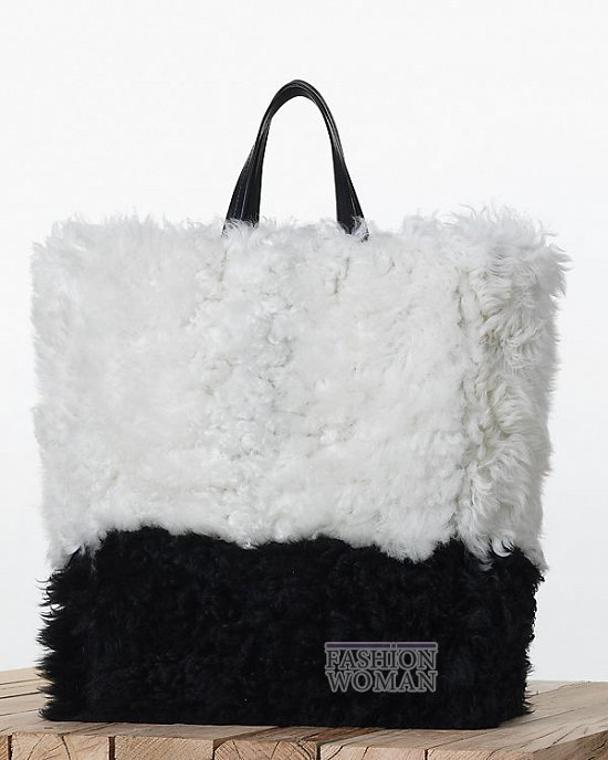 меховая сумка Селин