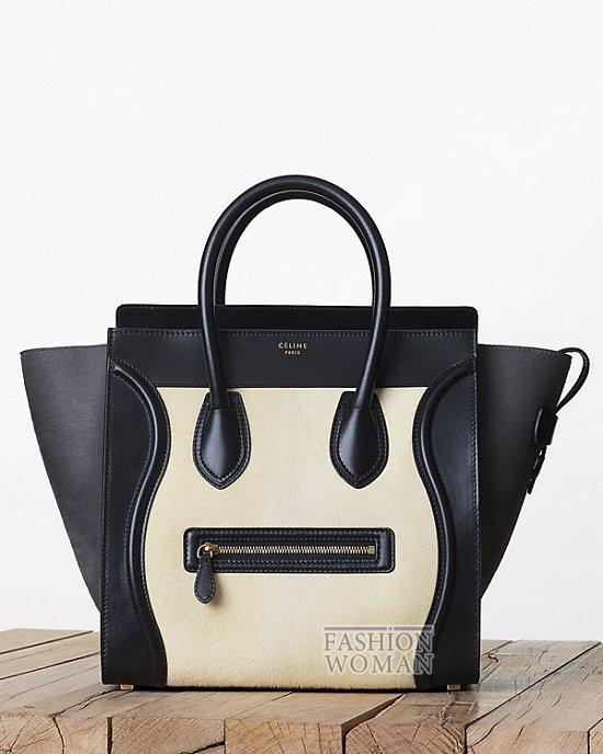 черно-бежевая сумка Селин