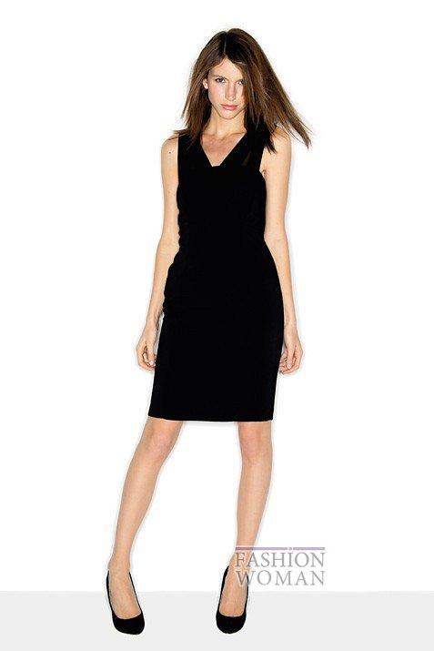 черное платье-футляр |