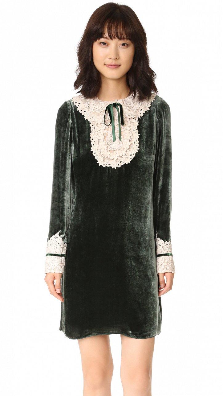 На заметку: 10 бархатных платьев для особого случая фото №3