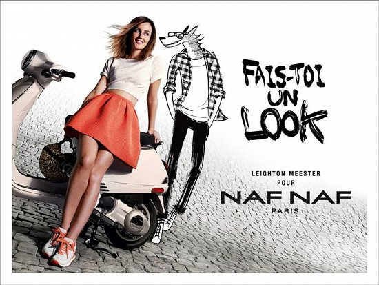 Лейтон Мистер в рекламной кампании NAF NAF весна-лето 2014