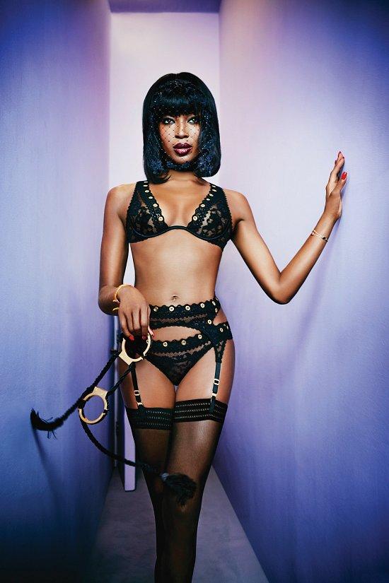 Наоми Кэмпбелл в рекламе нижнего белья Agent Provocateur фото №6