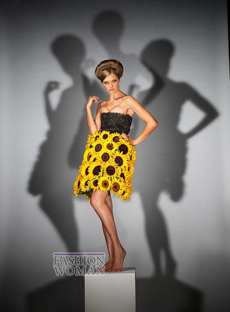 Платья из цветов фото №2