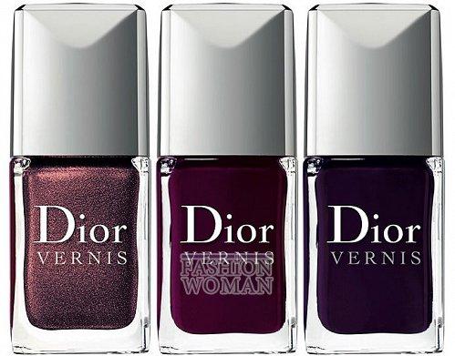 Фиолетовые лаки для ногтей от Dior