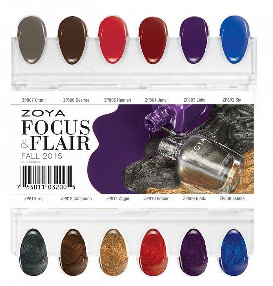 Коллекция лаков для ногтей Zoya Focus & Flair осень 2015
