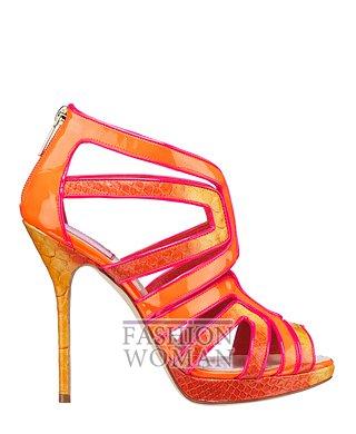 Модные оранжевые босоножки 2012