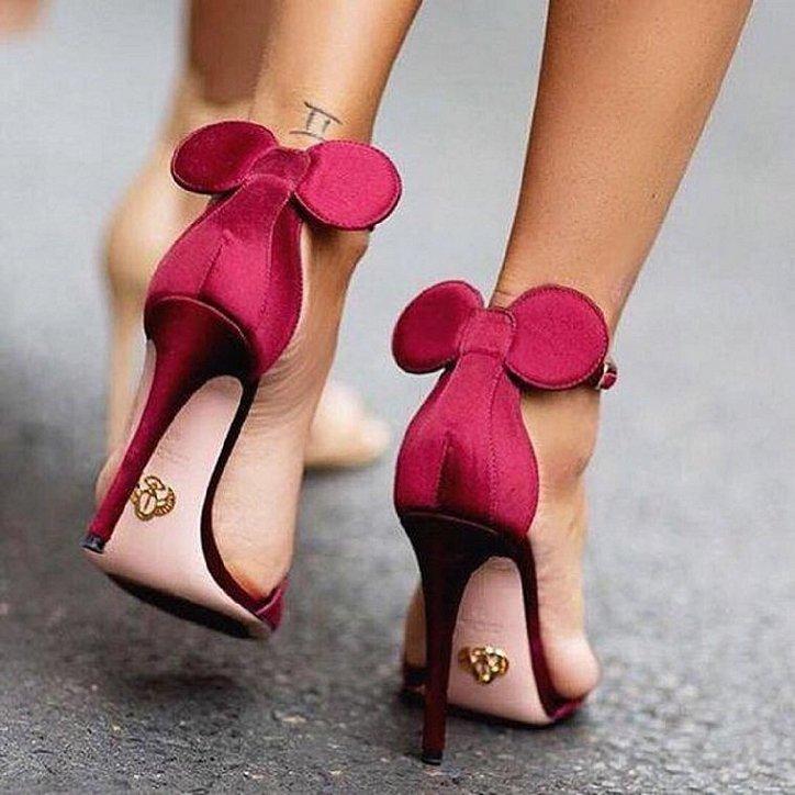 Оригинальные туфли с ушками Minnie Mouse by Oscar Tiye фото №2
