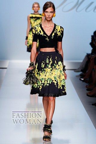 Расклешенная юбка от Blumarine лето 2012