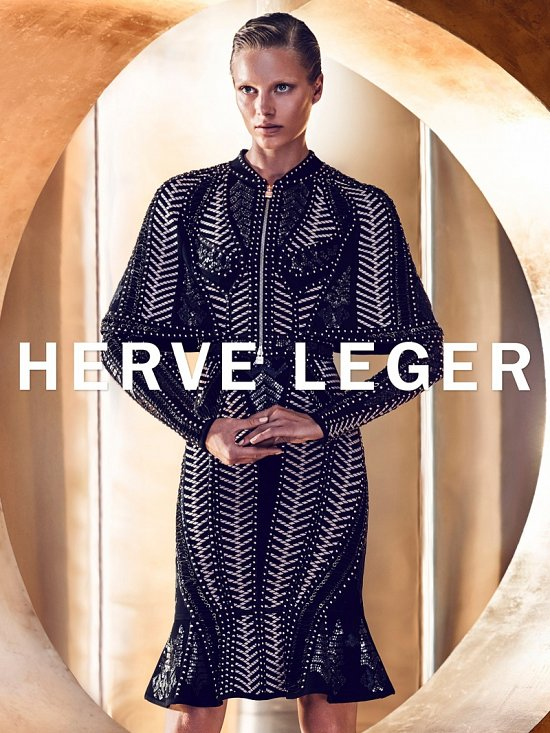 Рекламная кампания Herve Leger осень-зима 2015-2016 фото №5