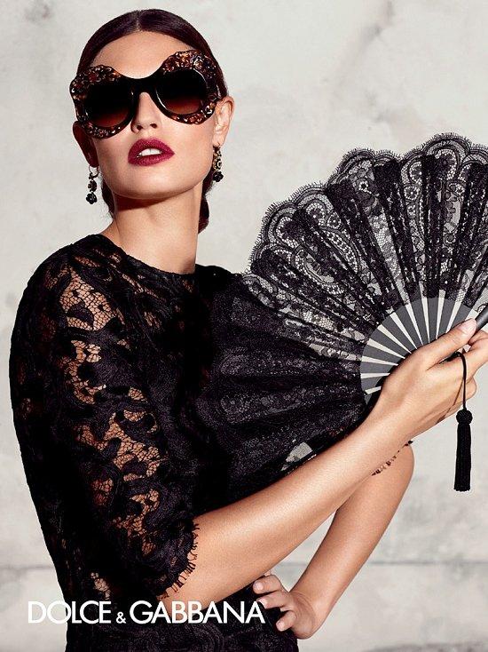 Рекламная кампания линии очков Dolce & Gabbana весна-лето 2015