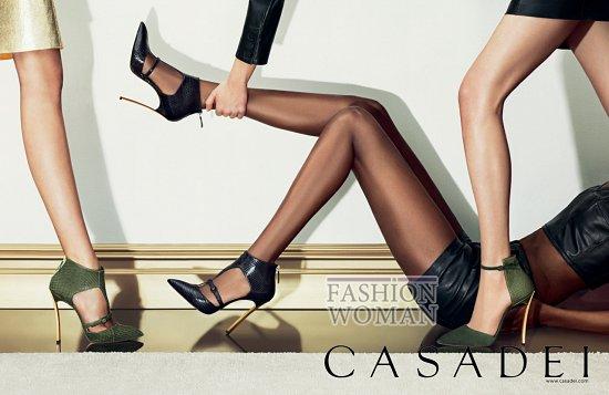 Рекламная кампания обуви Casadei осень-зима 2013-2014