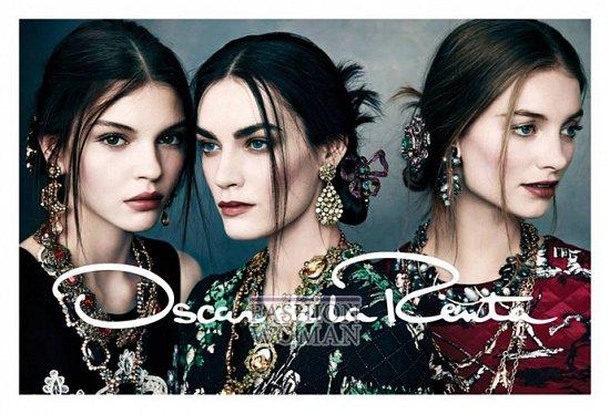 Рекламная кампания Oscar de la Renta осень-зима 2013-2014 фото №3