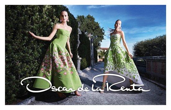 Рекламная кампания Oscar de la Renta весна-лето 2015