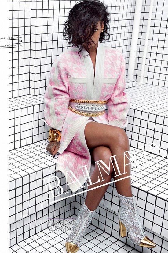 Рианна в рекламной кампании Balmain весна-лето 2014 фото №1