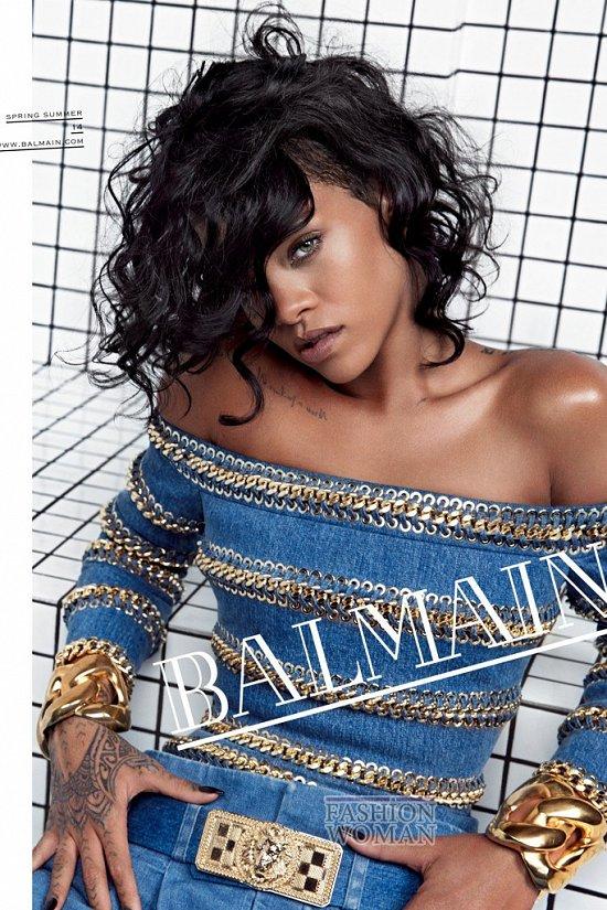 Рианна в рекламной кампании Balmain весна-лето 2014