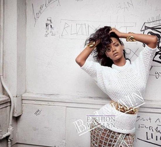 Рианна в рекламной кампании Balmain весна-лето 2014 фото №3