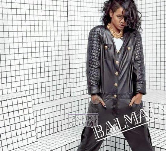 Рианна в рекламной кампании Balmain весна-лето 2014 фото №4