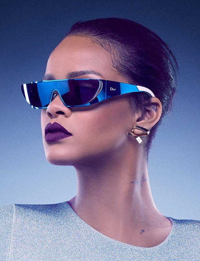 Рианна в рекламной кампании солнцезащитных очков Dior  фото №3