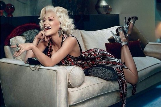 Рита Ора в рекламной кампании Roberto Cavalli осень-зима 2014-2015