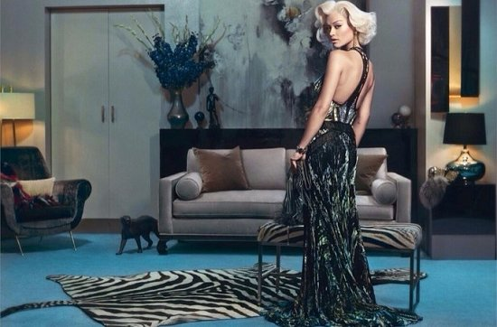 Рита Ора в рекламной кампании Roberto Cavalli осень-зима 2014-2015 фото №1