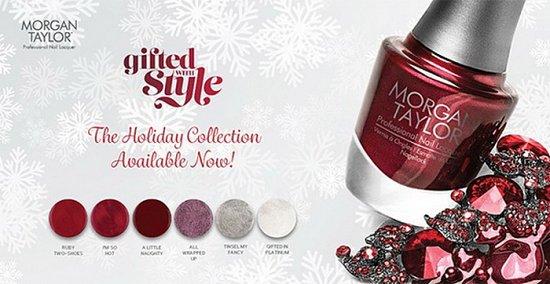 Рождественская коллекция лаков для ногтей Morgan Taylor Gifted with Style Collection Holiday 2015