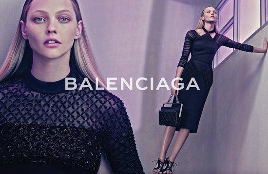 Саша Пивоварова в рекламной кампании Balenciaga весна-лето 2015 фото №7