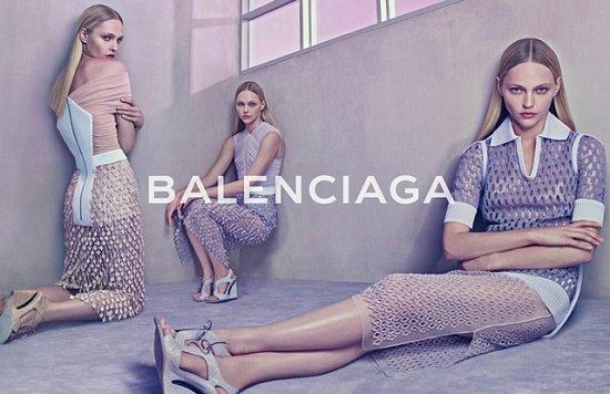 Саша Пивоварова в рекламной кампании Balenciaga весна-лето 2015