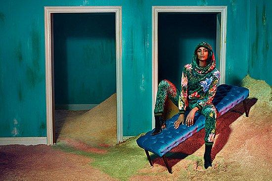 Сиара в рекламной кампании Roberto Cavalli осень-зима 2015-2016 фото №8
