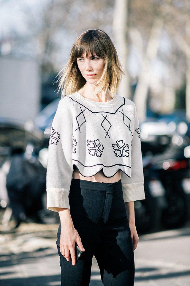 Street style на Неделе высокой моды в Париже весна-лето 2016 фото №16