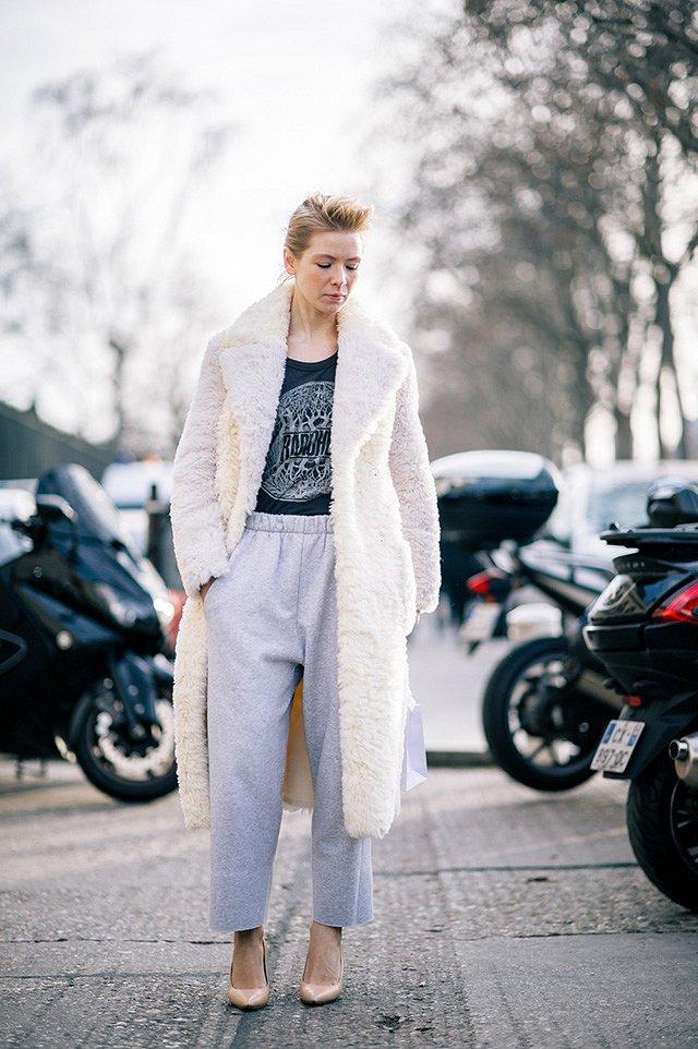 Street style на Неделе высокой моды в Париже весна-лето 2016 фото №18