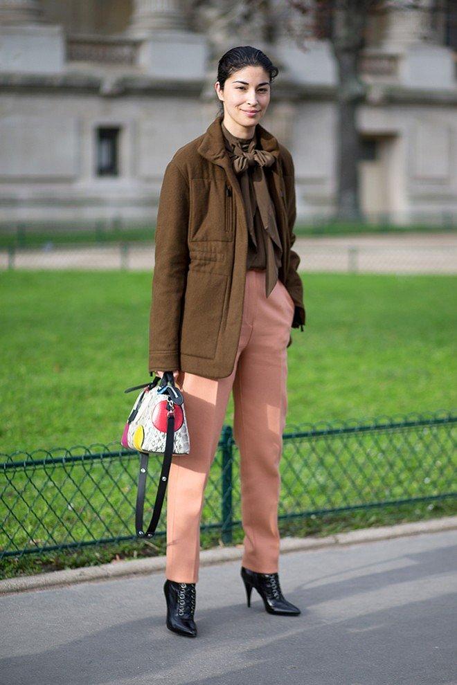 Street style на Неделе высокой моды в Париже весна-лето 2016 фото №24