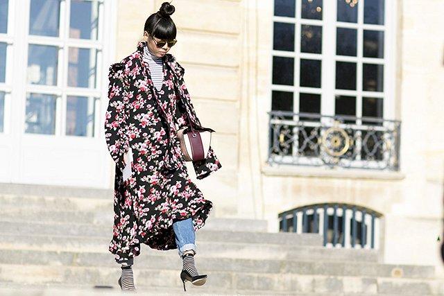 Street style на Неделе высокой моды в Париже весна-лето 2016 фото №26