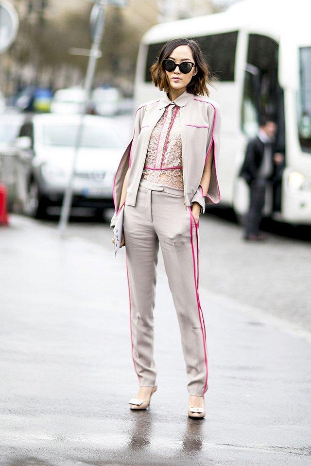 Street style на Неделе высокой моды в Париже весна-лето 2016 фото №30